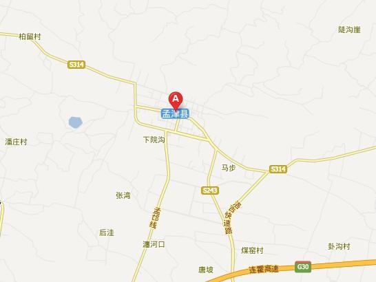 孟津朝阳镇地图
