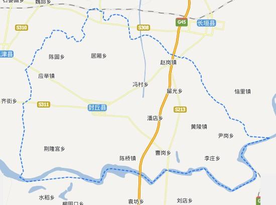 河南新乡封丘地图