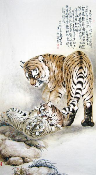 收藏与交流-虎画渐成收藏新热点