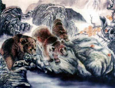 动物绘画艺术作品