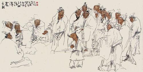胡伟峰的人物画