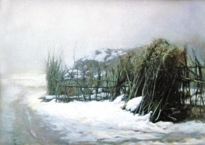 温暖的乡情记忆的风景——当代著名画家丁昆作品欣赏