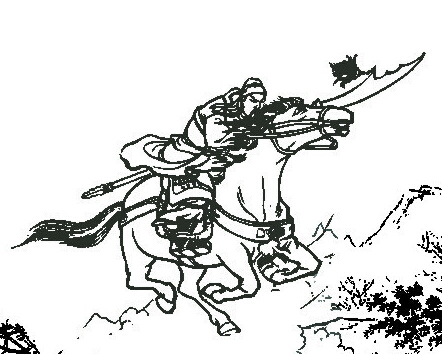 关羽卡通简笔画